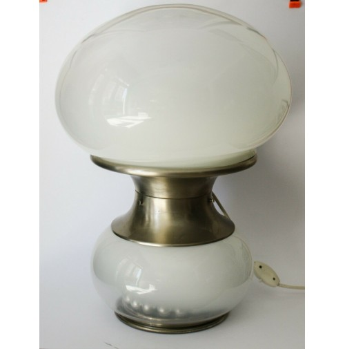 ♥ VERY BIG BOULE LAMPADA VINTAGE DESIGN SELENOVA ANNI 70 SPACE AGE TRIPLO VETRO