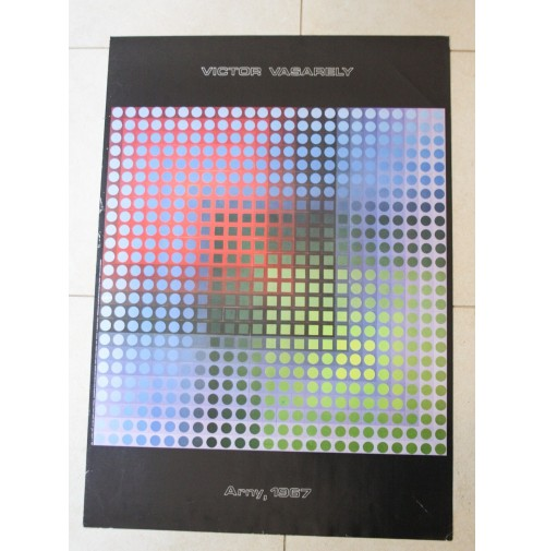 ► VICTOR VASARELY POSTER ARNY 1967 CENTRE GEORGE POMPIDOU STAMPA RICORDI VINTAGE