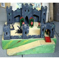 ♥ VINTAGE TRI-ANG FORT Y FORTINO INGLESE LINES BROS ANNI 60 WOODEN + SOLDIERS