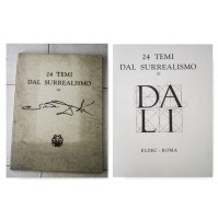 24 TEMI DAL SURREALISMO DI SALVADOR DALI' ELDEC ROMA 1979 libro grafiche