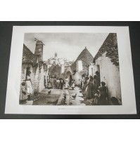 ALBEROBELLO UNA STRADA DEL PAESE 1920 Stampa foto repro Alinari la Repubblica
