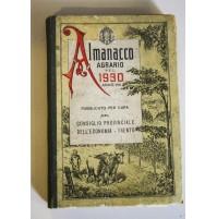 ALMANACCO AGRARIO PEL 1930 ANNO VIII PROVINCIA DI TRENTO E72