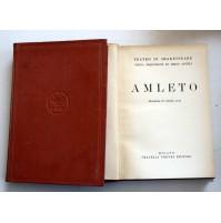 AMLETO Il teatro di W. Shakespeare F.lli Treves 1927 SP8