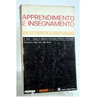 APPRENDIMENTO E INSEGNAMENTO E. Stones Franco Angeli 1à edizione 1970 M05