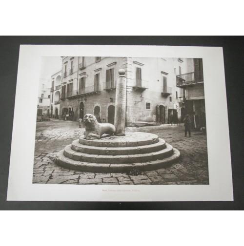 BARI, COLONNA DELLA GIUSTIZIA 1920 Stampa foto repro Alinari la Repubblica