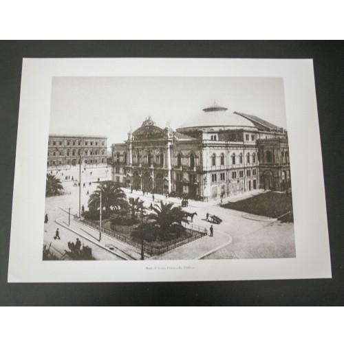 BARI, IL TEATRO PETRUZZELLI 1910 Stampa foto repro Alinari la Repubblica