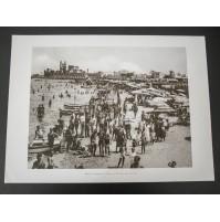 BARI, LA SPIAGGIA DI S. FRANCESCO 1930 Stampa foto repro Alinari la Repubblica