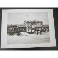 BARI, LA STAZIONE 1910 Stampa foto repro Alinari la Repubblica