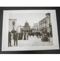 BARI, PIAZZA MERCANTILE S. NICOLA 1908 Stampa foto repro Alinari la Repubblica