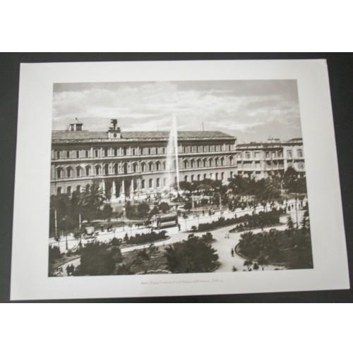 BARI, PIAZZA UMBERTO I ATENEO 1920 Stampa foto repro Alinari la Repubblica