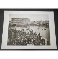 BARI, PROCESSIONE S. NICOLA PORTO 1903 Stampa foto repro Alinari la Repubblica