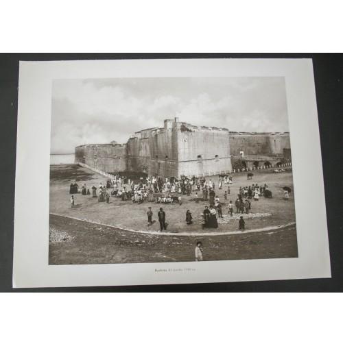 BARLETTA, IL CASTELLO 1910 Stampa foto repro Alinari la Repubblica
