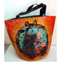 BORSA SHOPPING BAG ORVAL CREATIONS CANE E GATTO SHOPPER