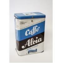 CAFFè ALOIA NAPOLI SCATOLA IN LATTA VINTAGE SPACE AGE DESIGN ANNI 70
