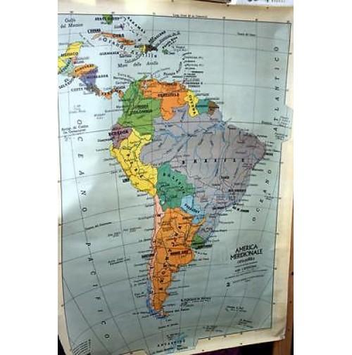 Cartina Geografica America Sud Fisica Politica Scolastica Scuola