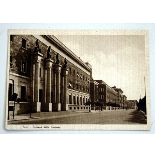 CARTOLINA BARI PALAZZO DELLE FINANZE 1939 VIAGGIATA