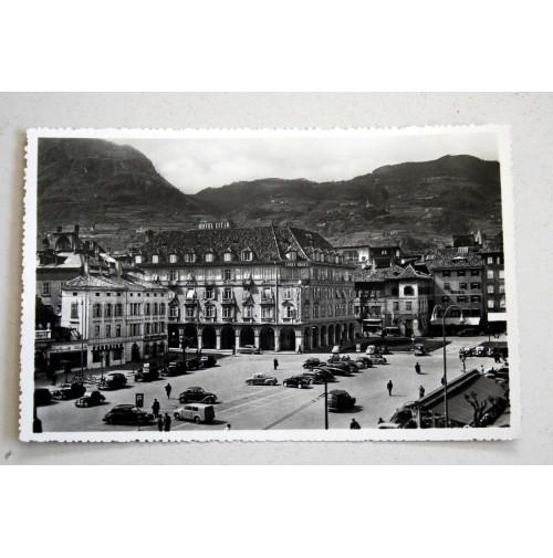 CARTOLINA BOLZANO HOTEL CITTà 1953 VIAGGIATA