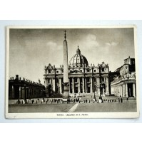 CARTOLINA ROMA BASILICA DI S. PIETRO 1939 VIAGGIATA