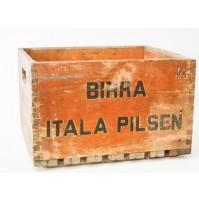 CASSA BIRRA ITALA PILSEN IN LEGNO VINTAGE ANNI 60 bottiglie da 0 a995640d296