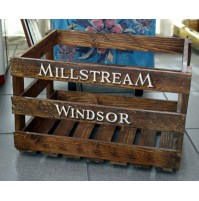CASSA IN LEGNO VINTAGE REPRO MILLSTREAM WINDSOR COLOR NOCE LOFT SHABBY CHIC