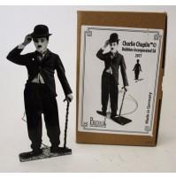 CHARLIE CHAPLIN CHARLOT GIOCATTOLO IN LATTA 16cm MUOVE LA BOMBETTA germany black