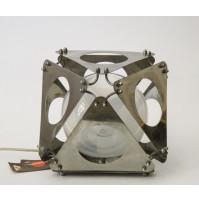 CHROMED LAMP DESIGN CENSI TAGLIAPIETRA VINTAGE ANNI 70 LAMPADA TAVOLO SPACE AGE
