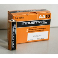 CONFEZIONE DA 10 BATTERIA STILO AA 1.5 volts V DURACELL INDUSTRIAL PILA procell