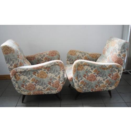 Coppia Di Poltrone Vintage Midcentury Modern Design Anni 60 Piedi