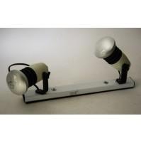 COPPIA FARETTI STILPLAST VINTAGE ANNI 70 80 DESIGN INDUSTRIALE APPLIQUE LAMPADE