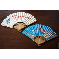 COPPIA VENTAGLI ORIGINALI CINESI ANNI 80 CSWA SOUTWEST AIR CHINA FAN