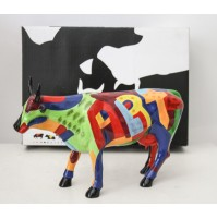 COW PARADE LARGE Sculpture ART OF AMERICA by Cynthia Hudson 2001 RARA SCULTURA