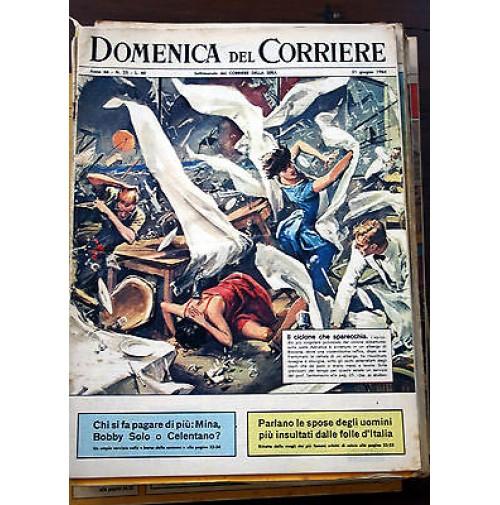 DOMENICA DEL CORRIERE 35 NUMERI 1964 RIVISTA settimanale anni 60