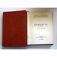 ENRICO VI Il teatro di W. Shakespeare F.lli Treves 1929 SP13