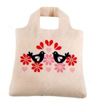 ENVIROSAX SHOPPING BAG BORSA IN COTONE ORGANICO PERù BIRDS