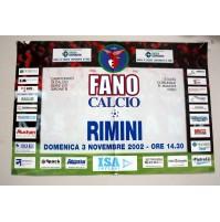 FANO RIMINI MANIFESTO POSTER INCONTRO DI CALCIO SERIE C2 2002-03 locandina