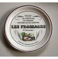 GIEN FRANCE PIATTO IN CERAMICA DIPINTO A MANO LES FROMAGES