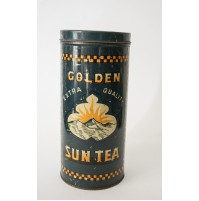 GOLDEN SUN TEA EXTRA QUALITY BOX SCATOLA IN LATTA ANNI 60 70 VINTAGE