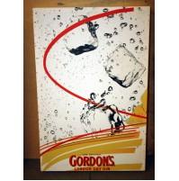 GORDON'S LONDON DRY GIN STAMPA SU TELA QUADRO TABELLA BAR VINTAGE TARGA 3
