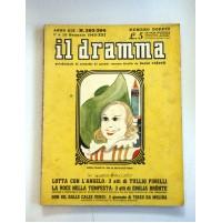 IL DRAMMA ANNO XIX N.393 394 1 15 GENNAIO 1943  RIVISTA TEATRO QUINDICINALE