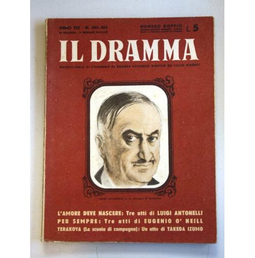 IL DRAMMA ANNO XIX N.402 403 1 GIUGNO 1943 DOPPIO RIVISTA TEATRO QUINDICINALE