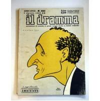 IL DRAMMA ANNO XVIII N.383 1 AGOSTO 1942 RIVISTA TEATRO QUINDICINALE