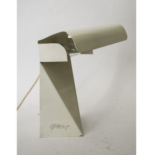 LAMPADA DA TAVOLO IN METALLO DESIGN G. GREGO VINTAGE METAL ART DESIGN ANNI 70