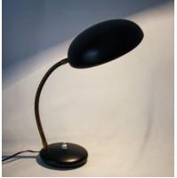 LAMPADA DA TAVOLO IN METALLO SMALTATO NERO VINTAGE DESIGN ANNI 50 60 dell