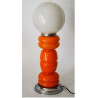 LAMPADA IN VETRO DI MURANO MAZZEGA VINTAGE DESIGN NASON ORANGE SPACE AGE 55 CM