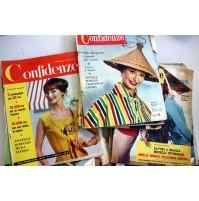 LOTTO RIVISTA CONFIDENZE 19 NUMERI ANNO 1959 SETTIMANALE FEMMINILE DONNA