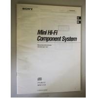 MINI-HI-FI COMPONENT SYSTEM FH-B510 MHC-510 MANUALE D'USO ISTRUZIONI GUIDA M54