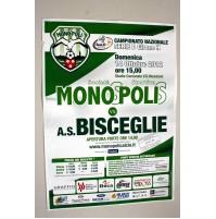 MONOPOLI BISCEGLIE MANIFESTO POSTER INCONTRO CALCIO SERIE D 2012 locandina