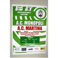 MONOPOLI MARTINA FRANCA MANIFESTO POSTER INCONTRO CALCIO COPPA ITALIA locandina