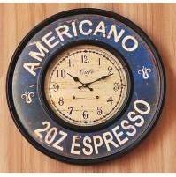 OROLOGIO SHABBY CHIC AMERICAN ESPRESSO 60 CM! DA MURO CLOCK
