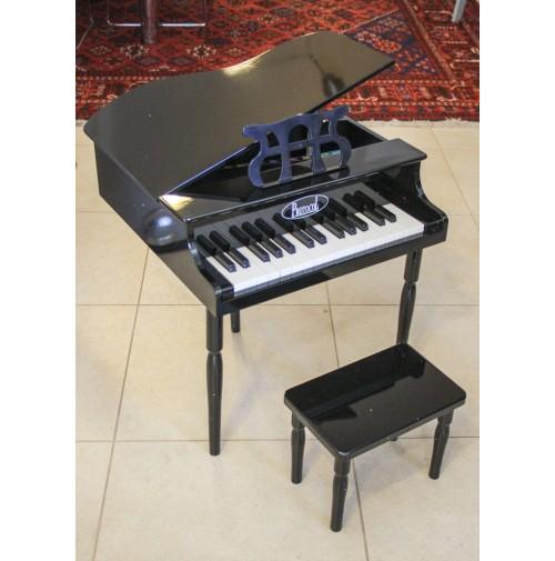 PIANOFORTE A CODA X BAMBINI IN LEGNO MINI PIANO NERO +18 MESI PROTOCOL SGABELLO